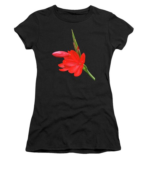 Ritzy Red Women's T-Shirt (Athletic Fit)