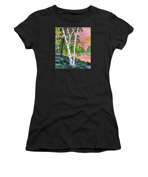 River Birch Women's T-Shirt (Athletic Fit)