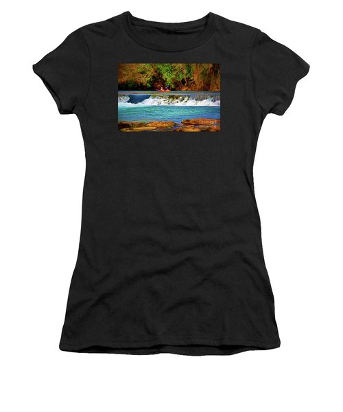 River Good Times 121217-1 Women's T-Shirt (Athletic Fit)