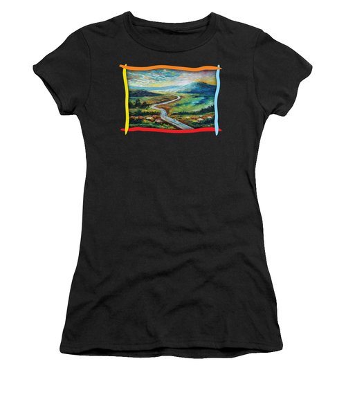 River In The Valley Women's T-Shirt (Athletic Fit)