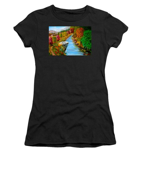 River Lousios  Women's T-Shirt (Athletic Fit)