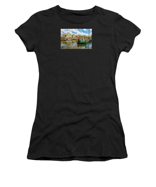 River Scene In Rotterdam Women's T-Shirt