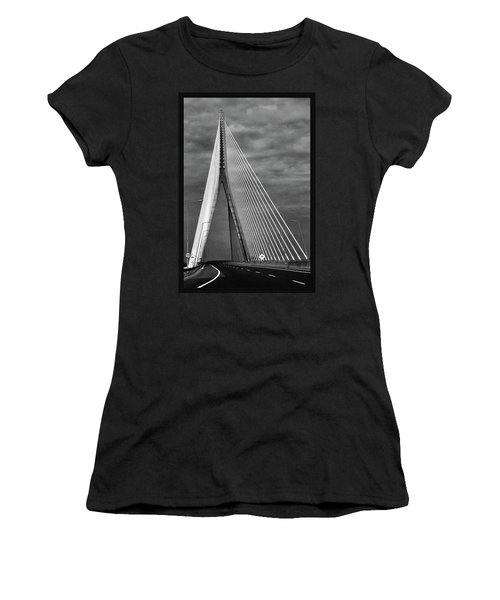 Women's T-Shirt (Junior Cut) featuring the photograph River Suir Bridge. by Terence Davis