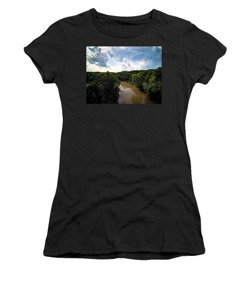 River View From Above Women's T-Shirt (Athletic Fit)