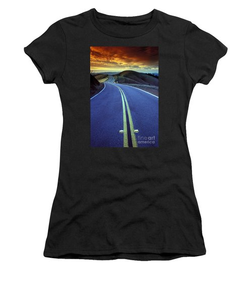 Road In The Mountains Women's T-Shirt (Athletic Fit)