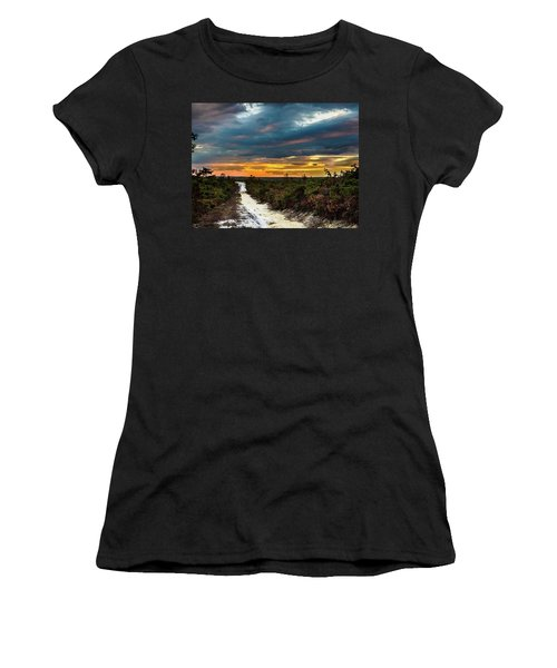 Road Into The Pinelands Women's T-Shirt