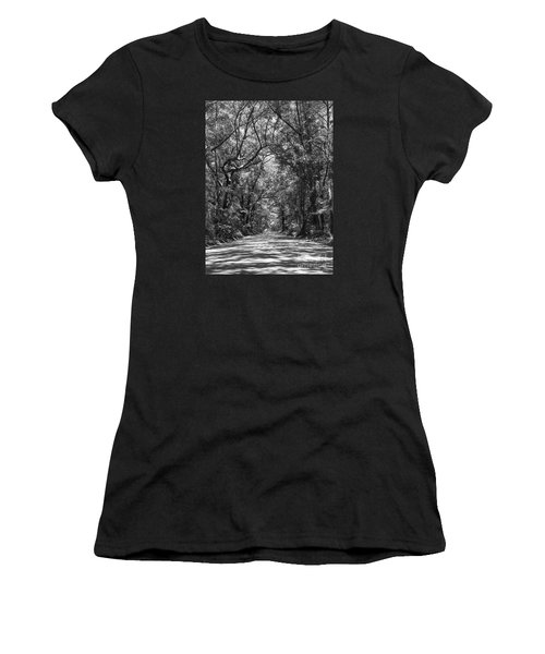 Road To Angel Oak Grayscale Women's T-Shirt (Athletic Fit)