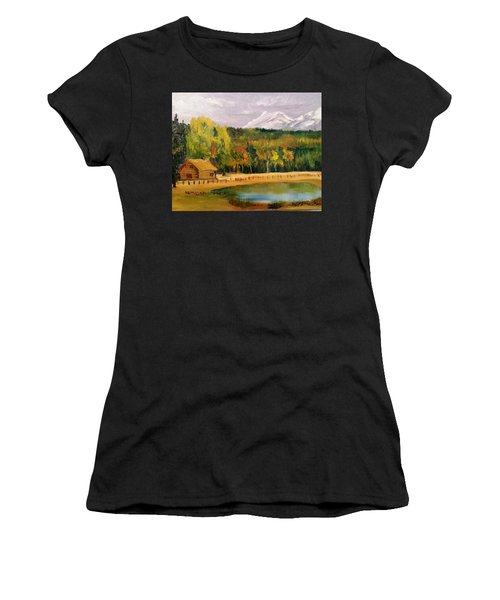 Road To Kintla Lake Women's T-Shirt (Athletic Fit)