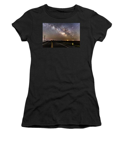 Road To Milky Way Women's T-Shirt (Athletic Fit)