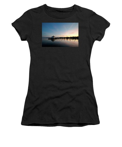 Roanoke Marshes Lighthouse At Dusk Women's T-Shirt