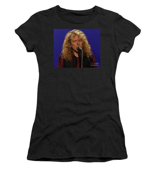 Robert Plant 001 Women's T-Shirt (Junior Cut) by Sergey Lukashin