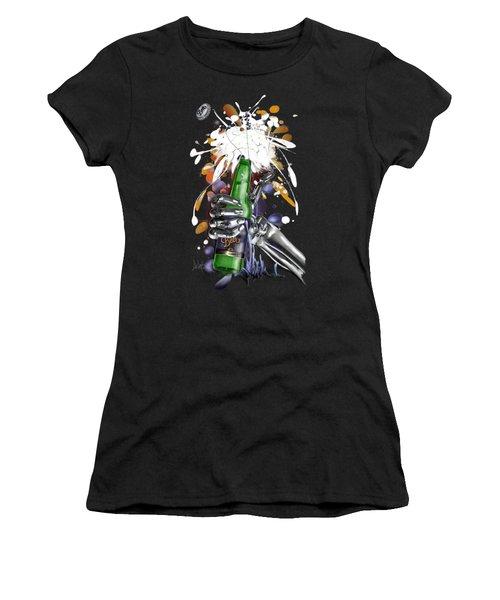 Robo Beer Women's T-Shirt (Athletic Fit)