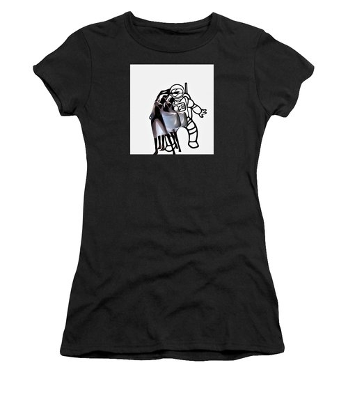 Robot In Love Women's T-Shirt (Athletic Fit)