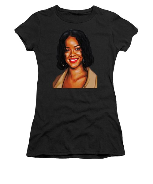 Robyn Rihanna Fenty Canvas  Women's T-Shirt (Athletic Fit)