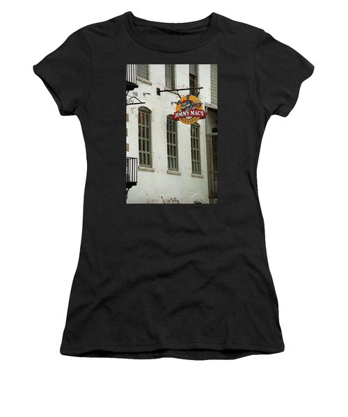 Women's T-Shirt (Junior Cut) featuring the photograph Rochester, New York - Jimmy Mac's Bar 3 by Frank Romeo