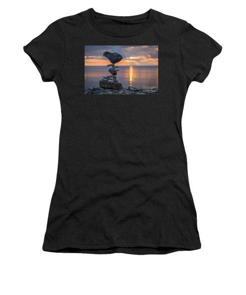 Rock Boarding Women's T-Shirt (Athletic Fit)