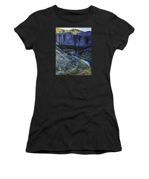 Rock Climbing Mecca Women's T-Shirt (Athletic Fit)