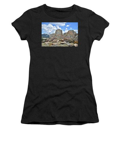 Rock Cropping At Big Horn Pass Women's T-Shirt