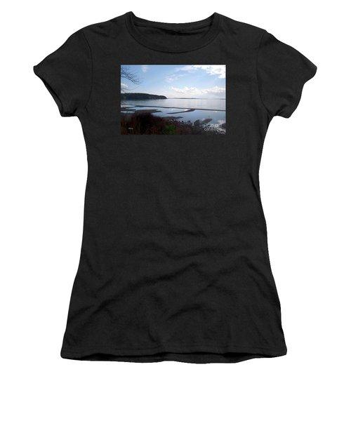 Women's T-Shirt (Junior Cut) featuring the photograph Rock Point North View Horizontal by Felipe Adan Lerma
