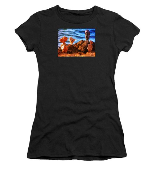 Rock Stacking Women's T-Shirt (Athletic Fit)