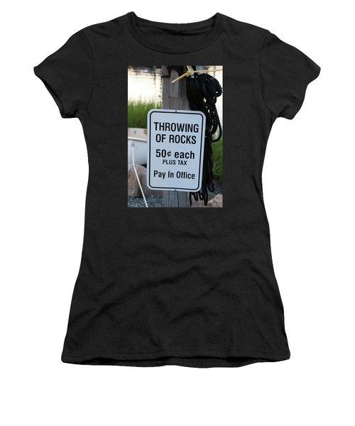 Rock Throwing Charge Women's T-Shirt