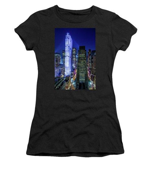Rockefeller At Night Women's T-Shirt