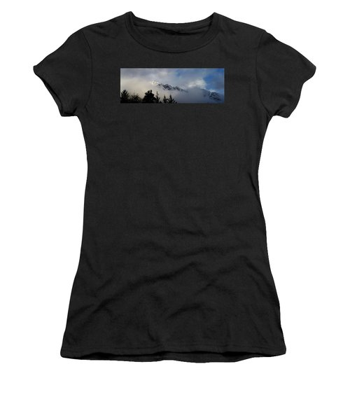 Rockies In The Clouds. Women's T-Shirt (Athletic Fit)