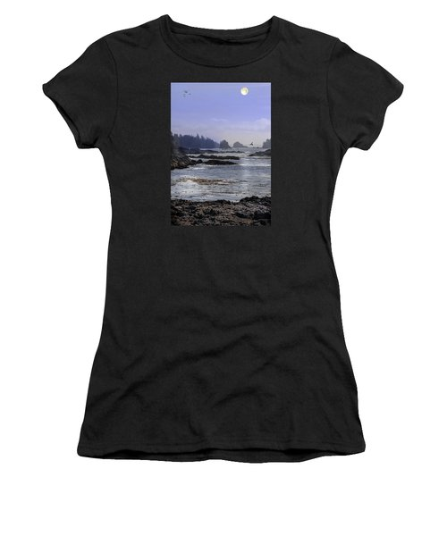 Rocks And Moon And Water Women's T-Shirt