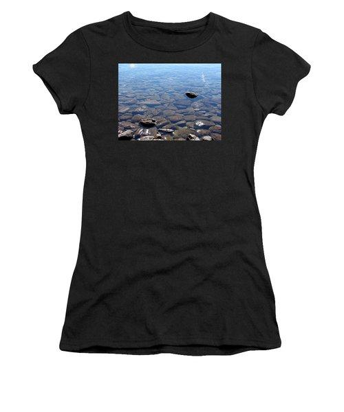 Rocks In Calm Waters Women's T-Shirt