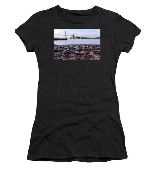 Rocks River And A Bridge In Savannah Georgia Women's T-Shirt