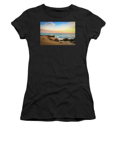 Women's T-Shirt featuring the photograph Rocky Beach by Tom Claud