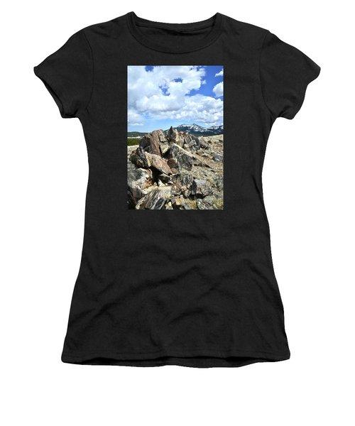 Rocky Crest At Big Horn Pass Women's T-Shirt