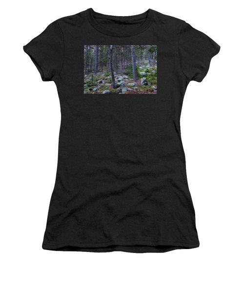 Women's T-Shirt (Athletic Fit) featuring the photograph Rocky Nature Landscape by James BO Insogna