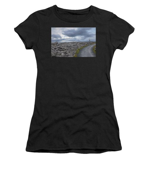 Rocky Road To The Lighthouse Women's T-Shirt (Athletic Fit)