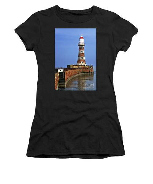 Roker Lighthouse Portrait Women's T-Shirt