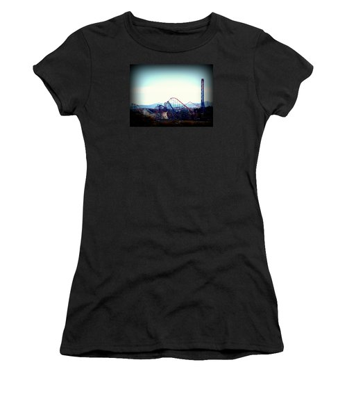 Roller Coasters At Twilight Women's T-Shirt (Athletic Fit)
