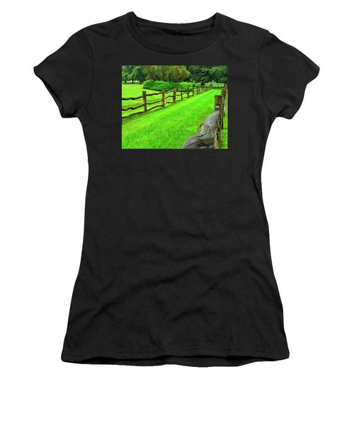 Rolling Rock Bridle Trail 2 Women's T-Shirt (Athletic Fit)