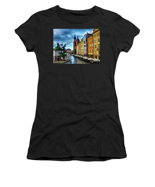 Romance In Krakow Women's T-Shirt (Athletic Fit)