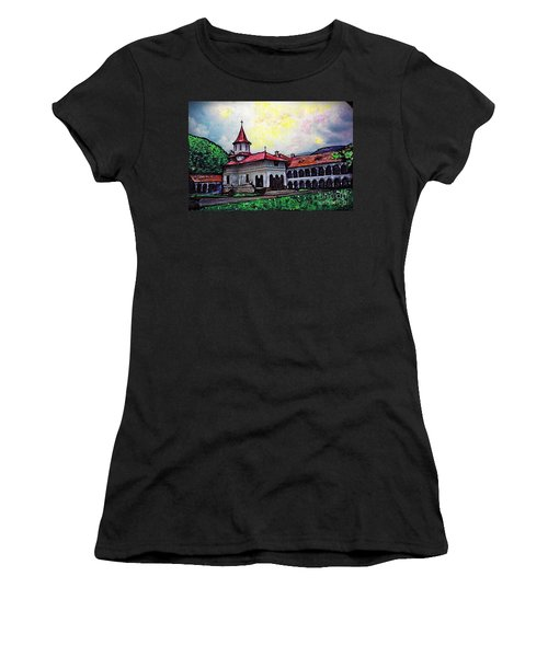 Romanian Monastery Women's T-Shirt (Junior Cut) by Sarah Loft