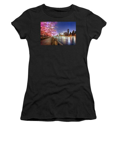 Romantic Blooms Women's T-Shirt (Athletic Fit)