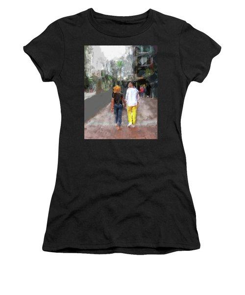 Romantic Couple Women's T-Shirt (Athletic Fit)