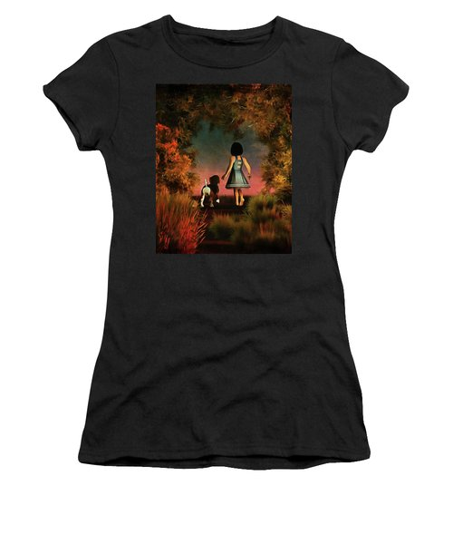 Romantic Walk In The Woods Women's T-Shirt (Athletic Fit)