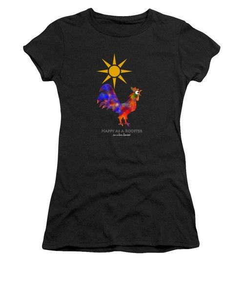 Rooster Pattern Art Women's T-Shirt