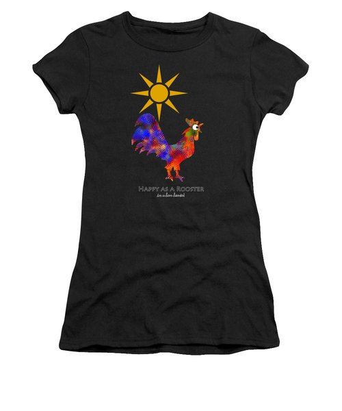 Rooster Pattern Art Women's T-Shirt (Athletic Fit)