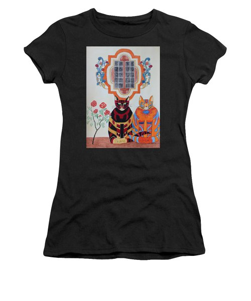 Rosa And Pedro Of The Rose Window Of Mission San Jose Women's T-Shirt