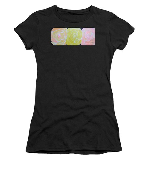 Rose Medley With Dewdrops Women's T-Shirt (Athletic Fit)