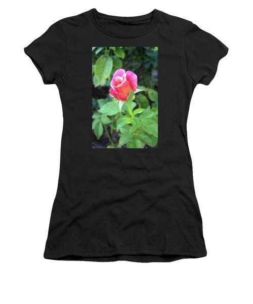Rosebud Women's T-Shirt (Junior Cut) by Mary Ellen Frazee
