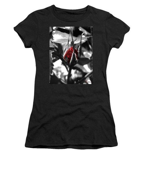 Rosebud Red Women's T-Shirt