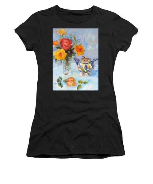Roses, Apple And Ardmore Jar Women's T-Shirt