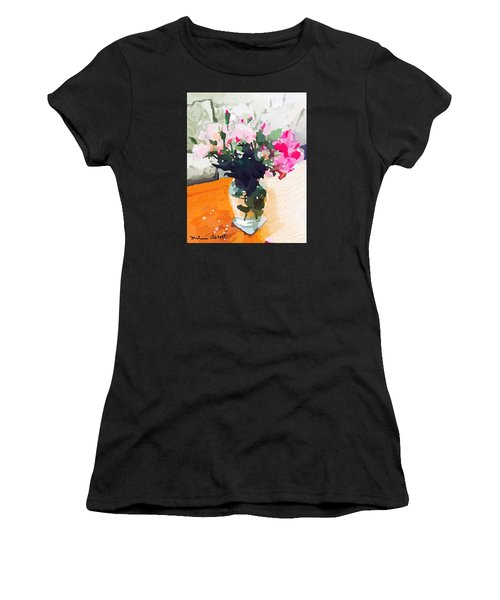 Roses In The Living Room Women's T-Shirt (Athletic Fit)